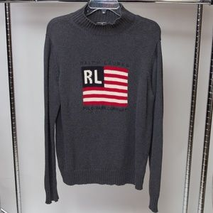 Vintage Ralph Lauren Flag Sweater Size Large
